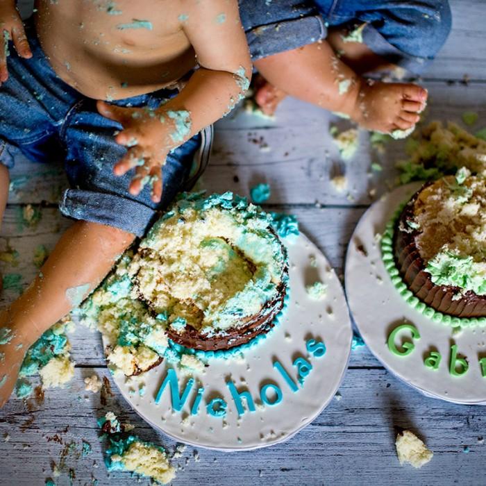 Nicholas & Gabriel <br>• Double Trouble Cake Smash! • </br>