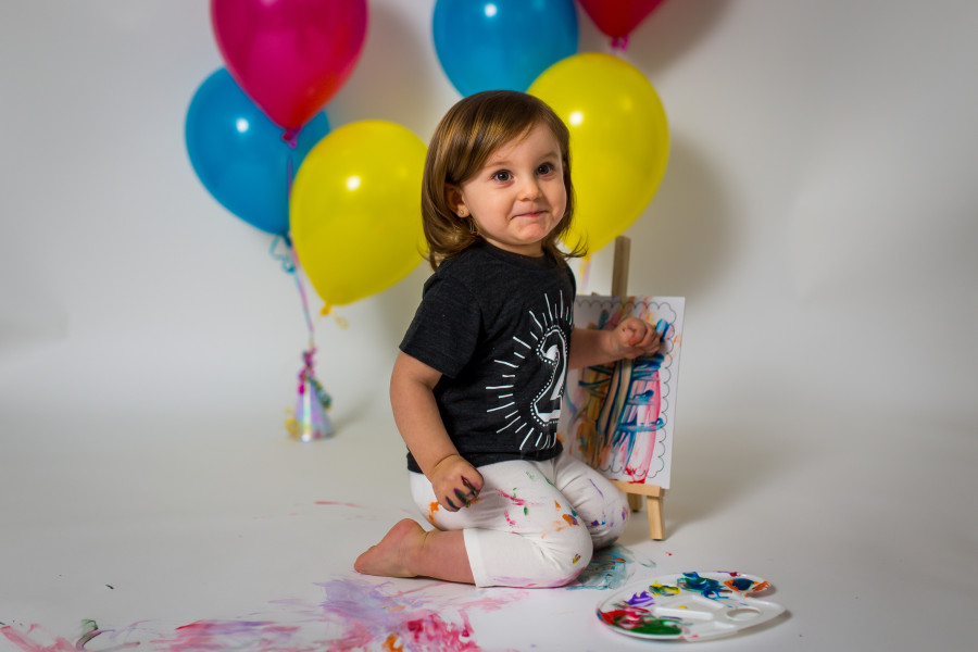 Happy 2nd Birthday Natalie! - Paint Splash