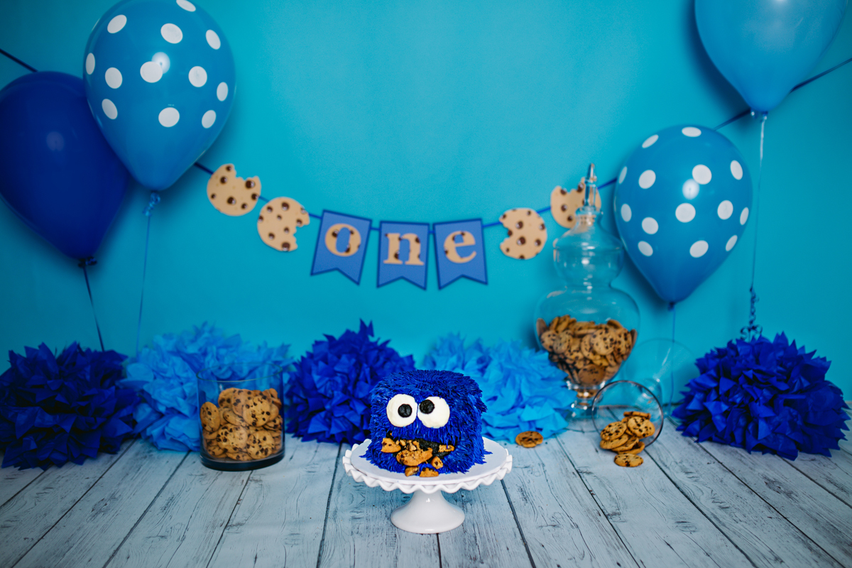 Giuseppe S Cookie Monster Cake Smash