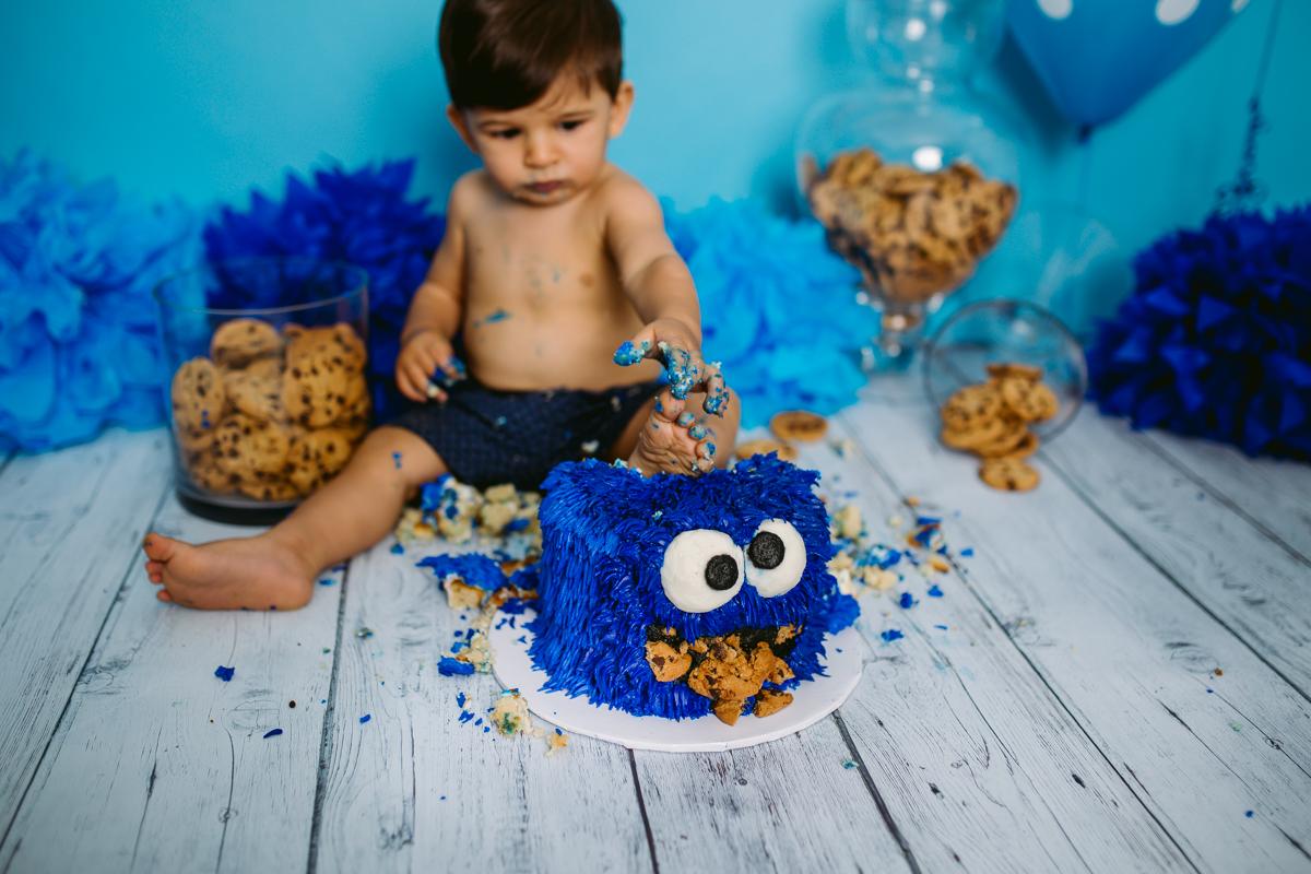 Giuseppe S Cookie Monster Cake Smash